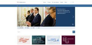 Screenshot der Website des Bundeskanzleramts Österreich