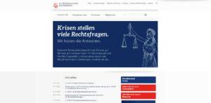 Screenshot der Website der österreichischen Rechtsanwaltskammer