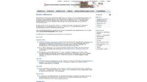 Screenshot der Website des Rechtsinformationssystems des Bundes